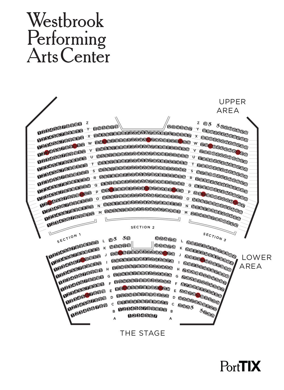 Seating Chart Westbrook Performing Arts Center Porttix